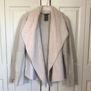 Cream suede / faux fur size XXL